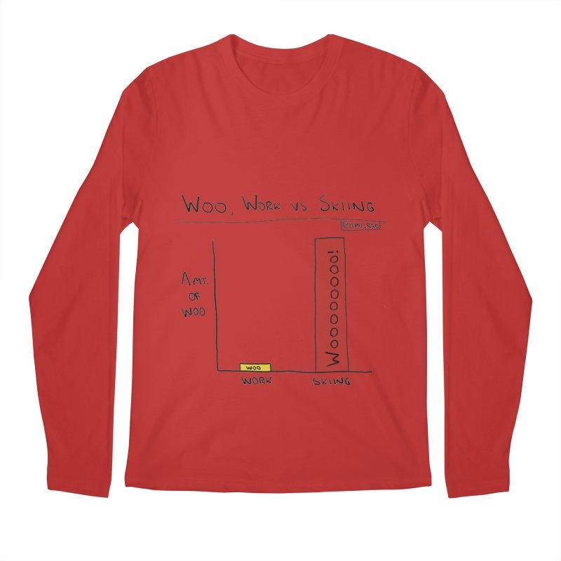 The Woo of Skiing Men's Regular Longsleeve T-Shirt by Semi-Rad's Artist Shop