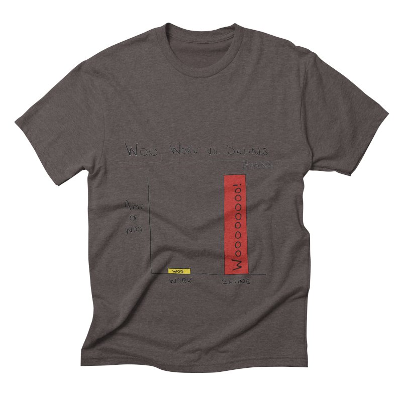 The Woo of Skiing Men's Triblend T-Shirt by Semi-Rad's Artist Shop