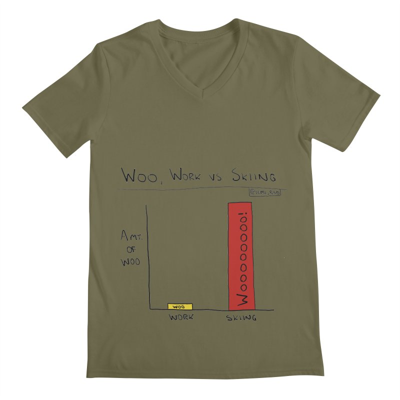 The Woo of Skiing Men's V-Neck by Semi-Rad's Artist Shop