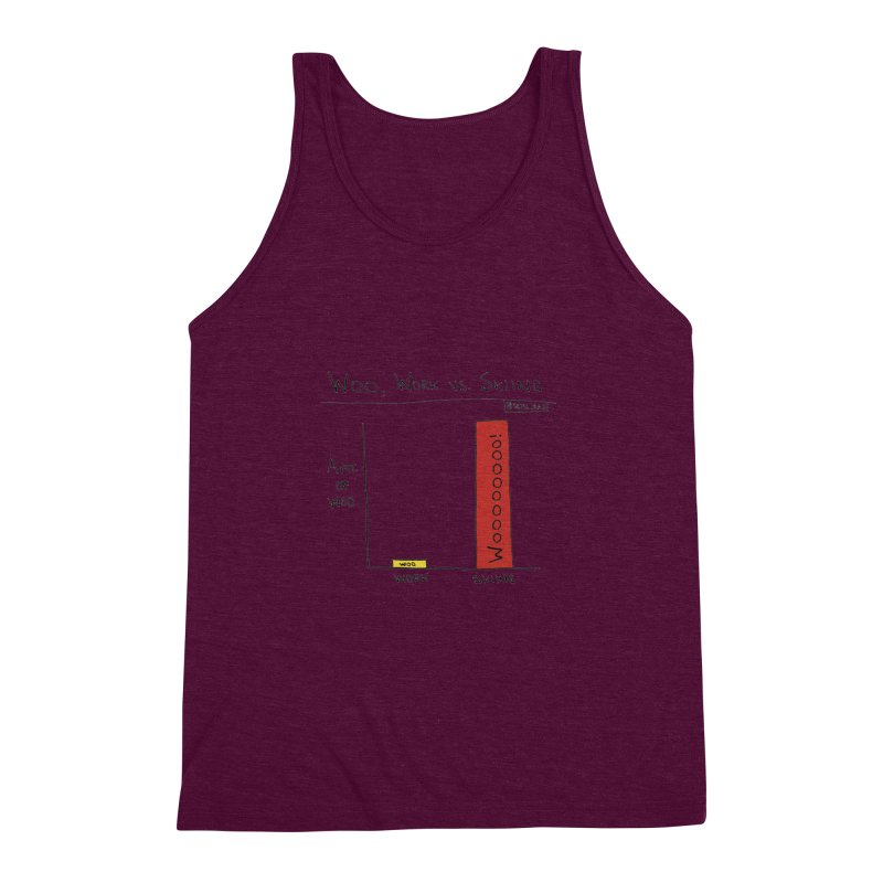 The Woo of Skiing Men's Triblend Tank by Semi-Rad's Artist Shop