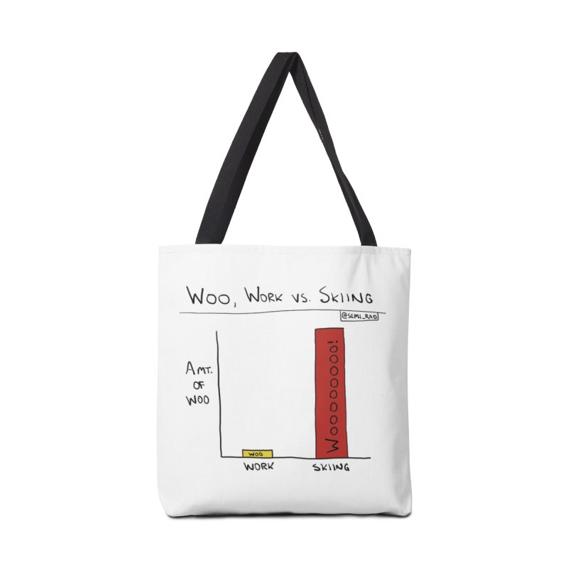 The Woo of Skiing Accessories Bag by Semi-Rad's Artist Shop
