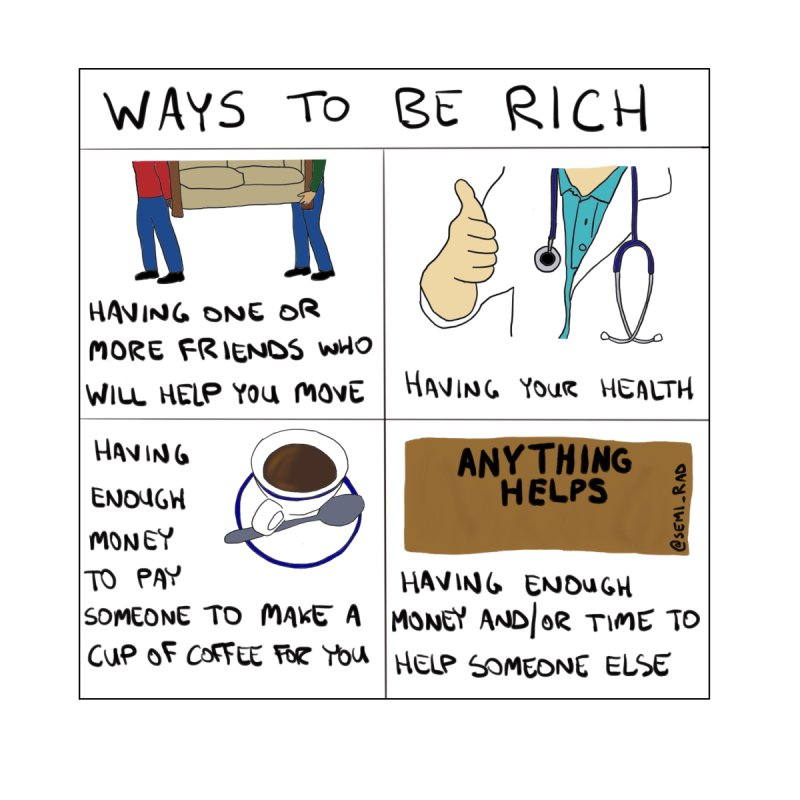 Ways to Be Rich Home Framed Fine Art Print by Semi-Rad's Artist Shop