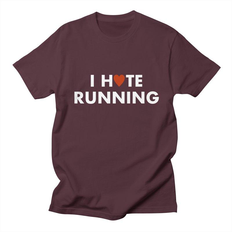 I Hate (Love) Running Men's Regular T-Shirt by Semi-Rad's Artist Shop