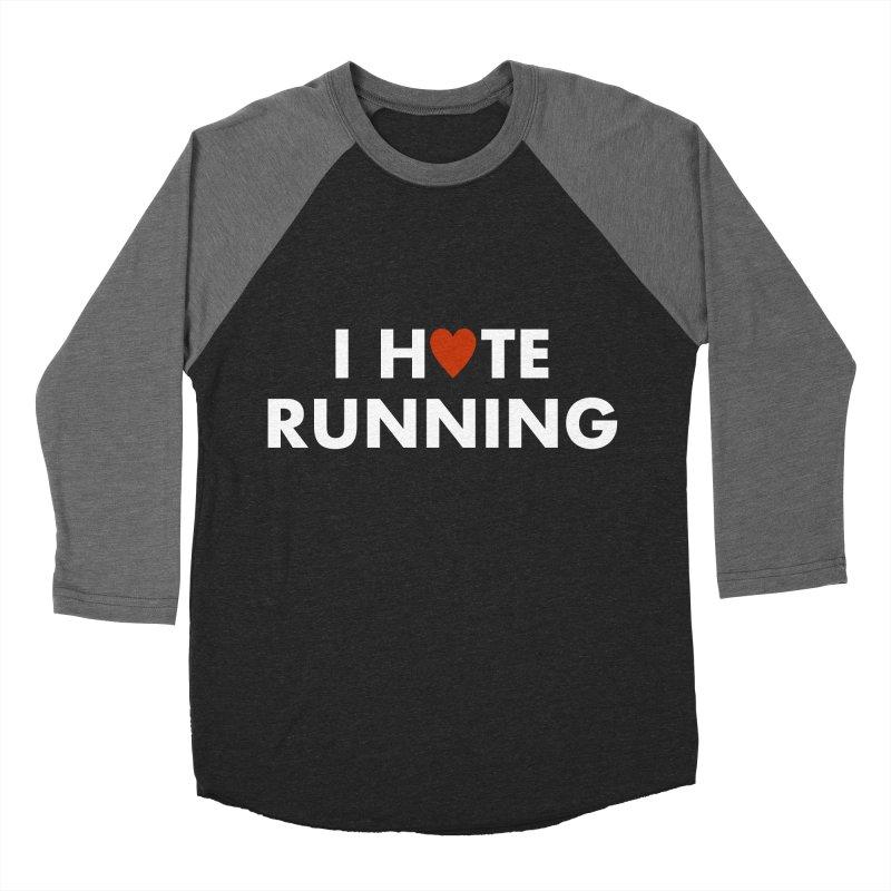 I Hate (Love) Running Men's Baseball Triblend Longsleeve T-Shirt by Semi-Rad's Artist Shop