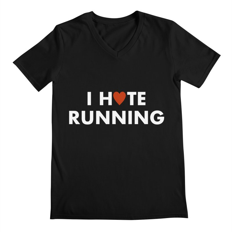 I Hate (Love) Running Men's Regular V-Neck by Semi-Rad's Artist Shop