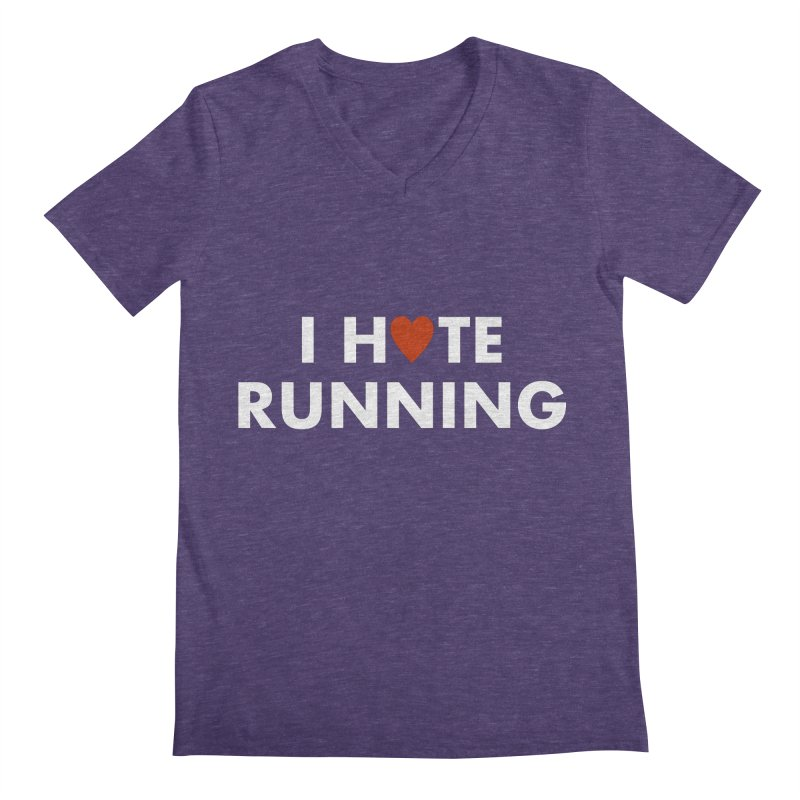 I Hate (Love) Running Men's V-Neck by Semi-Rad's Artist Shop