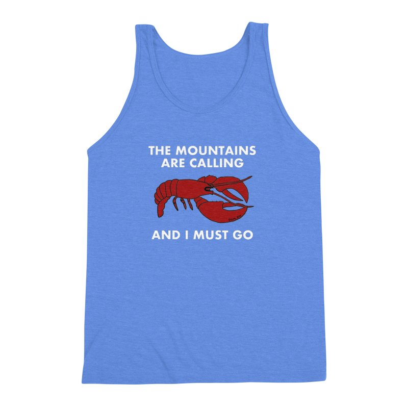 The Mountains Are Calling Men's Triblend Tank by Semi-Rad's Artist Shop