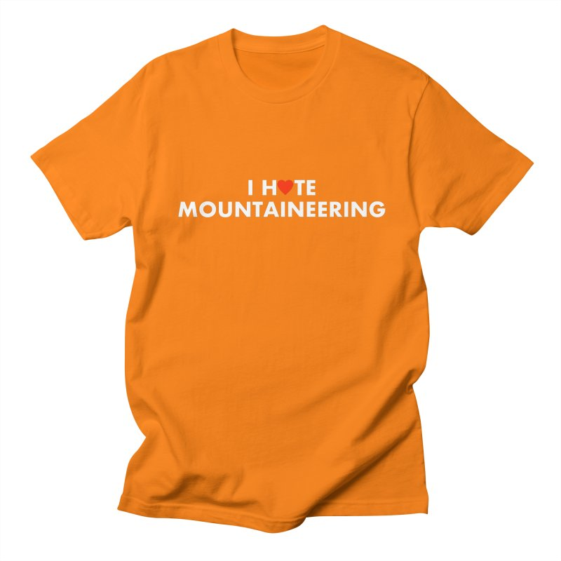 I Hate (Love) Mountaineering Men's Regular T-Shirt by Semi-Rad's Artist Shop