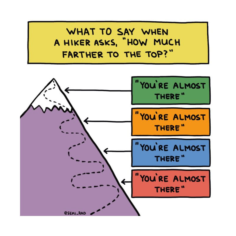 How Much Farther To The Top? by Semi-Rad's Artist Shop