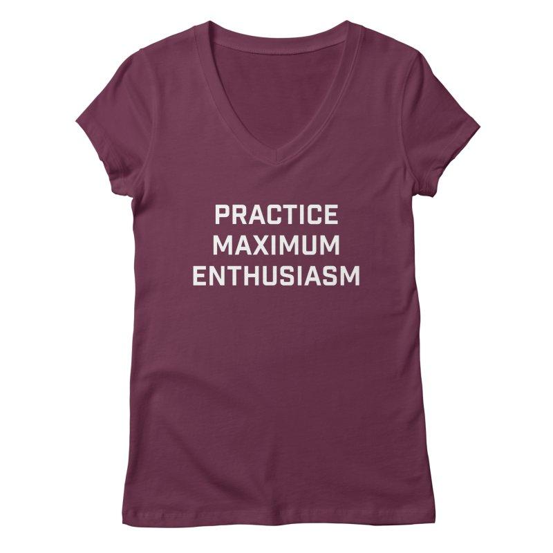 practice maximum enthusiasm Women's Regular V-Neck by Semi-Rad's Artist Shop