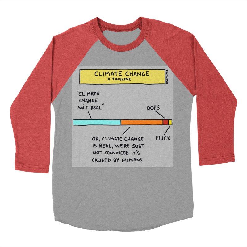 Climate Change: A Timeline Women's Baseball Triblend Longsleeve T-Shirt by Semi-Rad's Artist Shop
