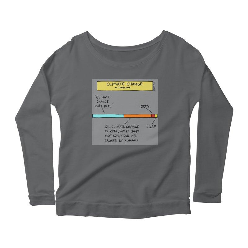 Climate Change: A Timeline Women's Scoop Neck Longsleeve T-Shirt by Semi-Rad's Artist Shop