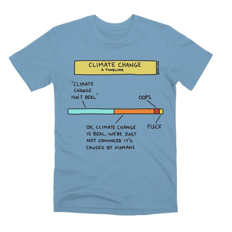 Climate Change: A Timeline Men's Premium T-Shirt by Semi-Rad's Artist Shop