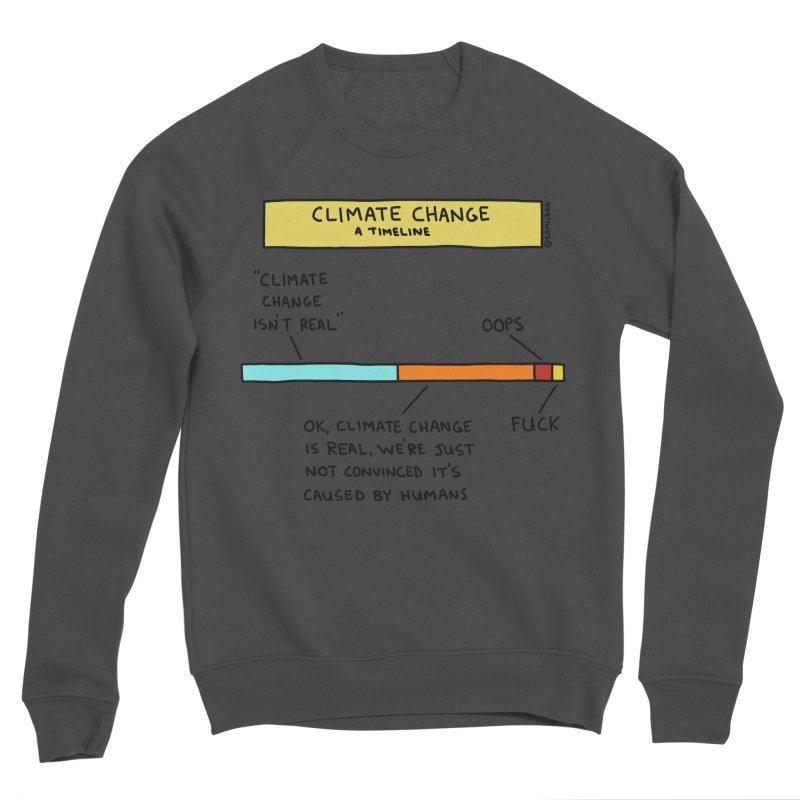 Climate Change: A Timeline Women's Sponge Fleece Sweatshirt by Semi-Rad's Artist Shop