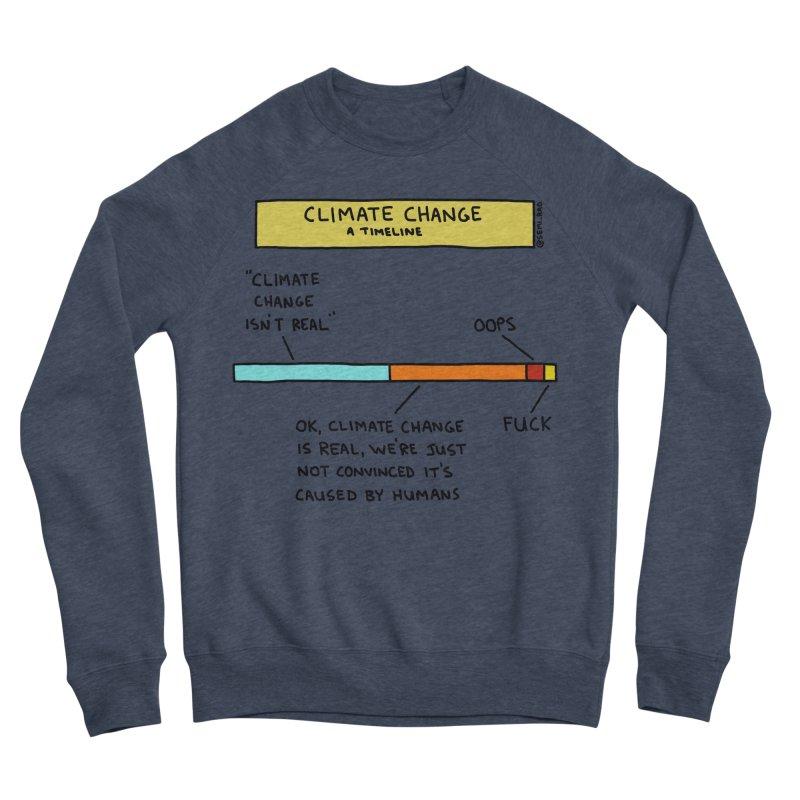 Climate Change: A Timeline Men's Sponge Fleece Sweatshirt by Semi-Rad's Artist Shop