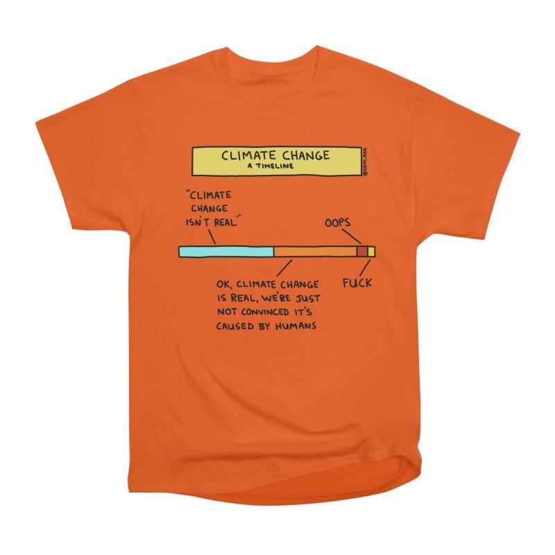 Climate Change: A Timeline Women's Heavyweight Unisex T-Shirt by Semi-Rad's Artist Shop