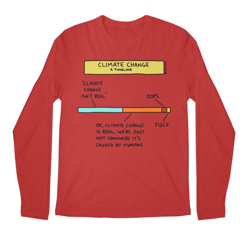Climate Change: A Timeline Men's Regular Longsleeve T-Shirt by Semi-Rad's Artist Shop