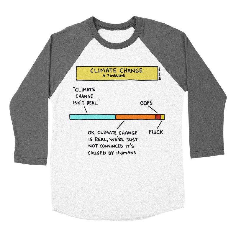 Climate Change: A Timeline Men's Baseball Triblend Longsleeve T-Shirt by Semi-Rad's Artist Shop