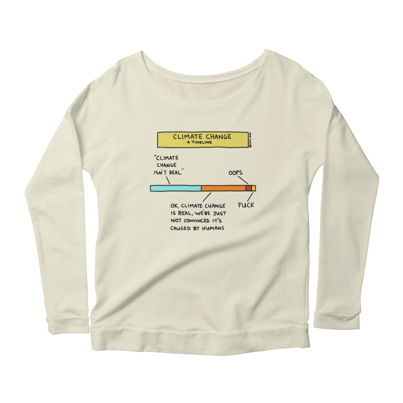 Climate Change: A Timeline Women's Scoop Neck Longsleeve T-Shirt by Semi-Rad's Artist Shop