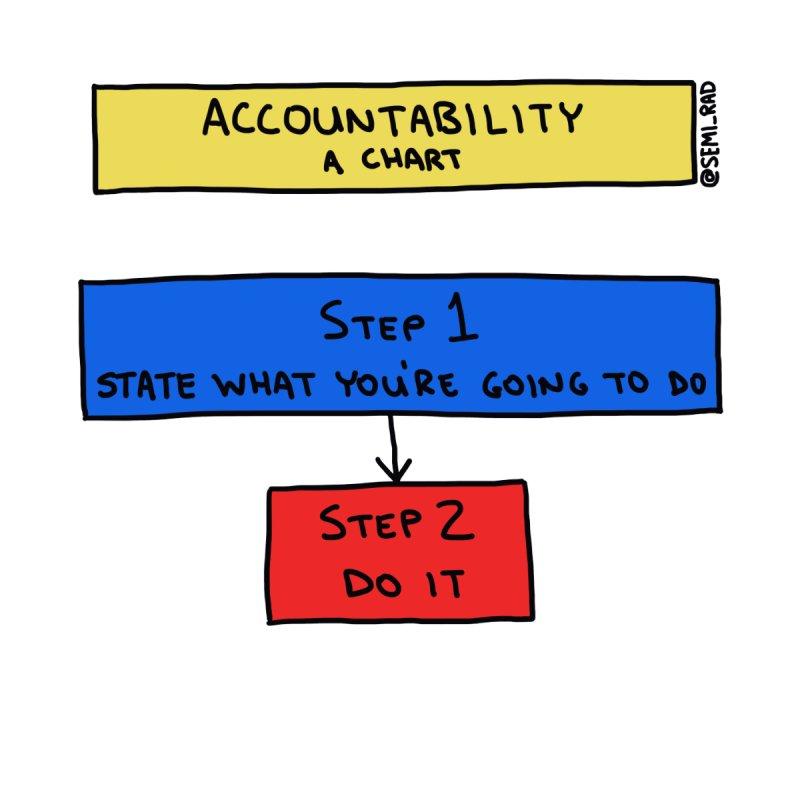 Accountability: A Chart by Semi-Rad's Artist Shop