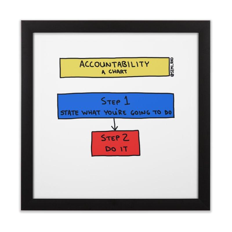 Accountability: A Chart Home Framed Fine Art Print by Semi-Rad's Artist Shop
