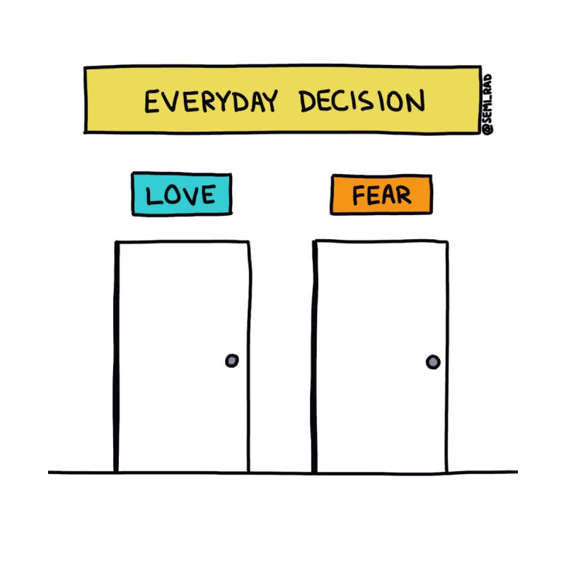 Love Vs. Fear Home Framed Fine Art Print by Semi-Rad's Artist Shop