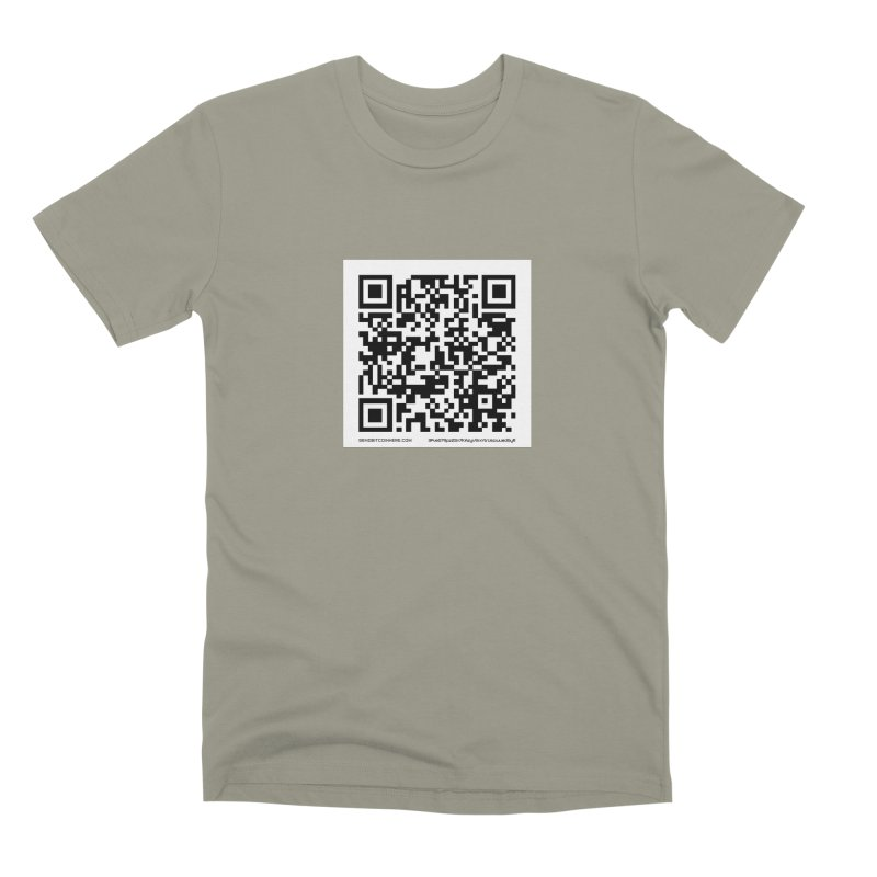 Send Bitcoin Here™ Men's Premium T-Shirt by Send Bitcoin Here™