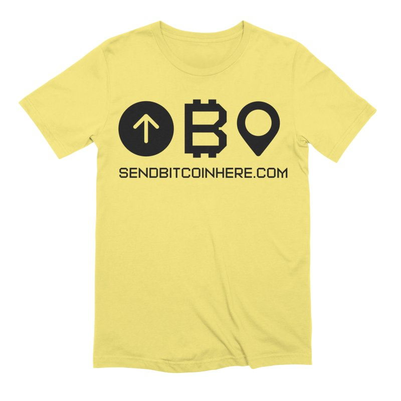 Send Bitcoin Here™ Men's Extra Soft T-Shirt by Send Bitcoin Here™