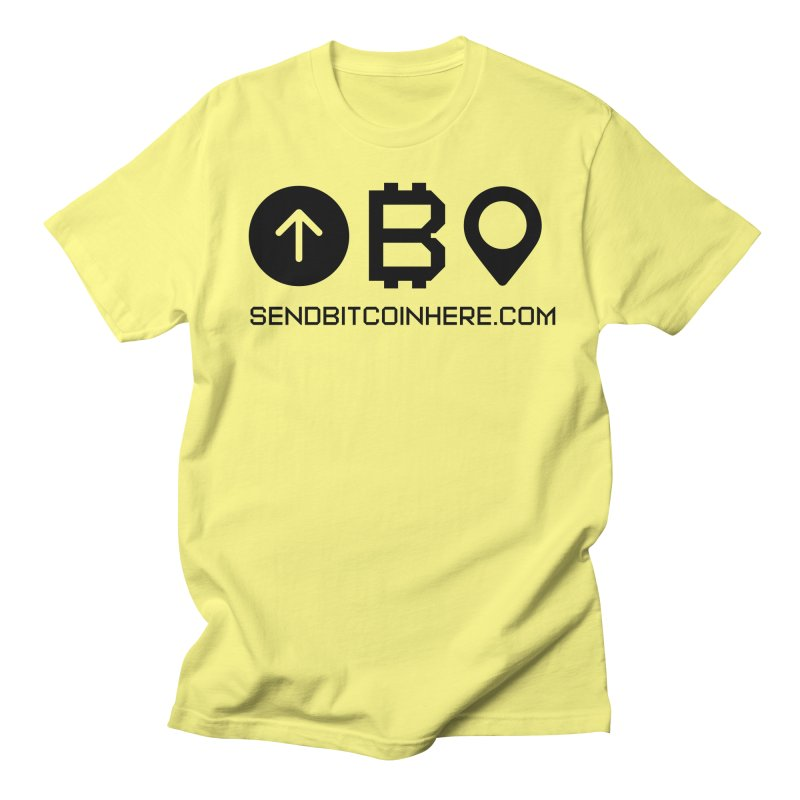 Send Bitcoin Here™ Men's T-Shirt by Send Bitcoin Here™