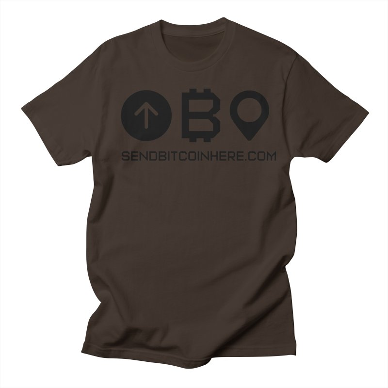 Send Bitcoin Here™ Men's Regular T-Shirt by Send Bitcoin Here™