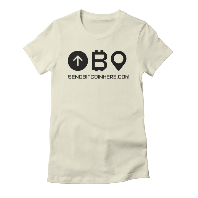Send Bitcoin Here™ Women's Fitted T-Shirt by Send Bitcoin Here™