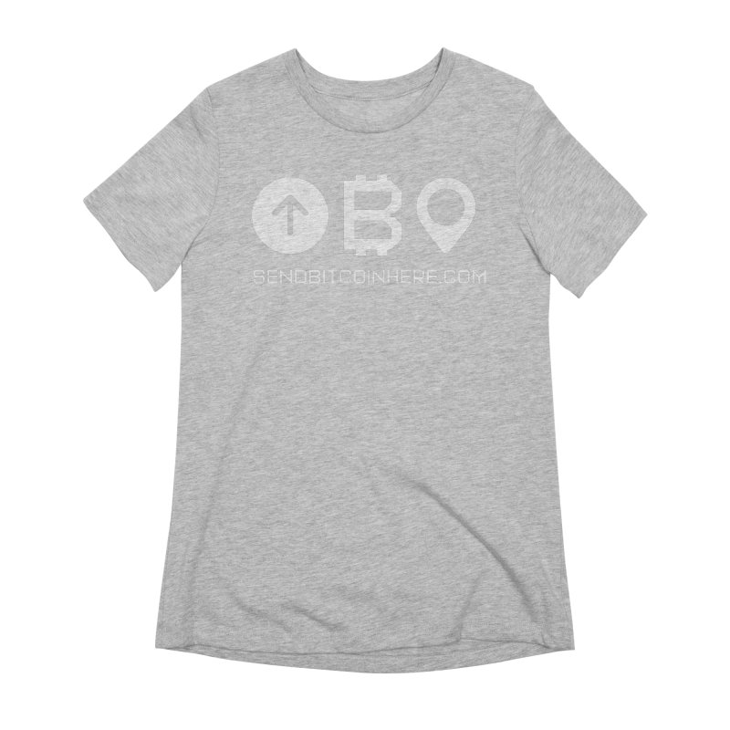 Send Bitcoin Here™ Women's Extra Soft T-Shirt by Send Bitcoin Here™