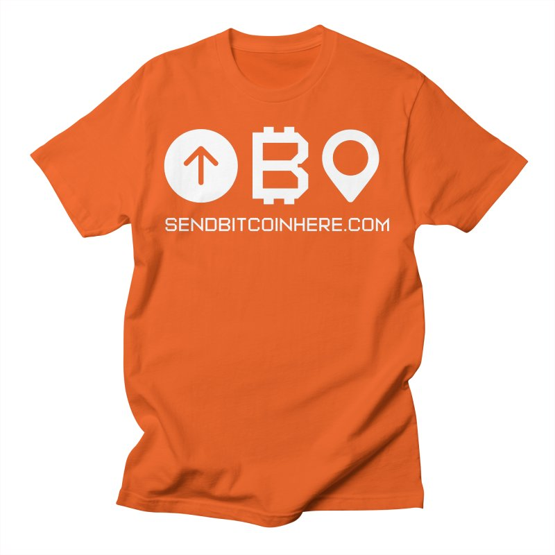 Send Bitcoin Here™ Men's T-Shirt by Send Bitcoin Here™