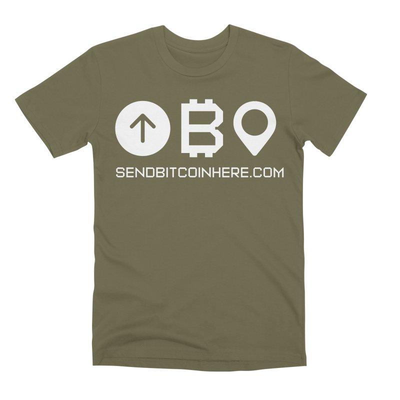 Send Bitcoin Here™ Men's Premium T-Shirt by Send Bitcoin Here™