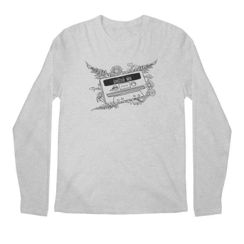Casette Tap (Black) Men's Regular Longsleeve T-Shirt by sensitivemen's Artist Shop