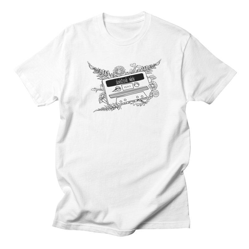 Casette Tap (Black) Men's Regular T-Shirt by sensitivemen's Artist Shop