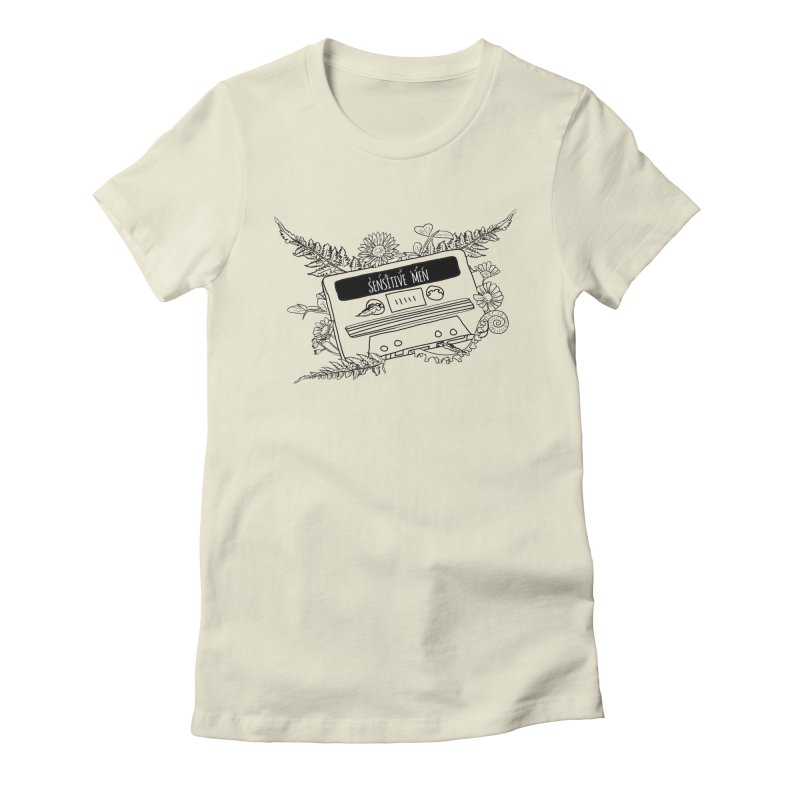 Casette Tap (Black) Women's Fitted T-Shirt by sensitivemen's Artist Shop