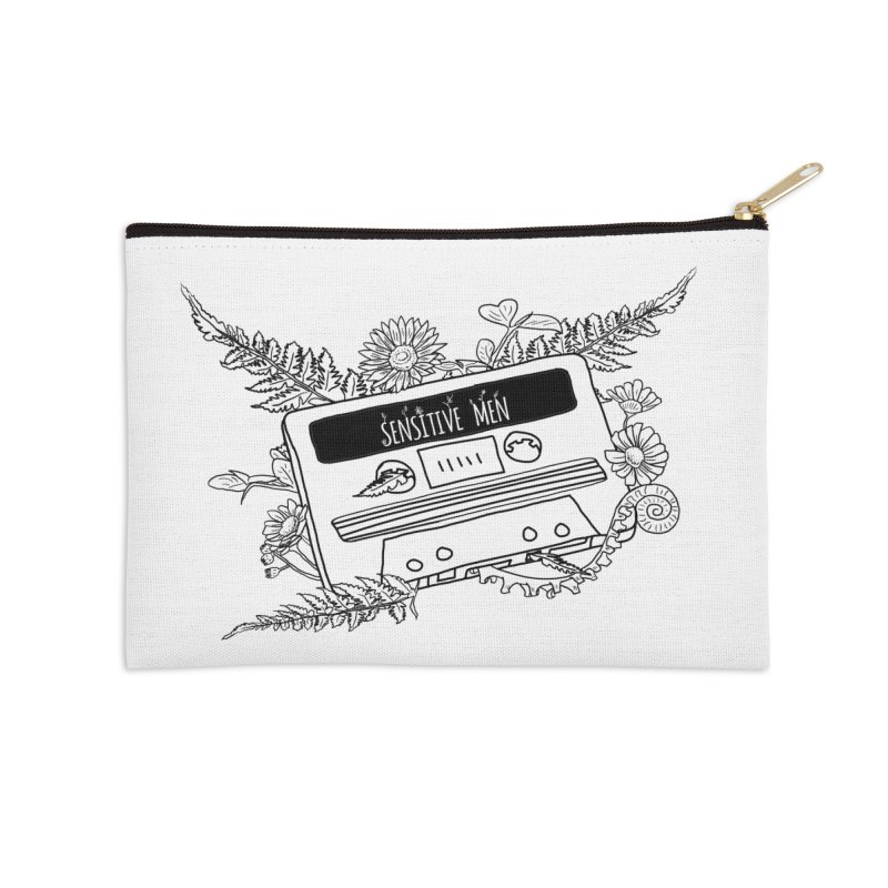 Casette Tap (Black) Accessories Zip Pouch by sensitivemen's Artist Shop