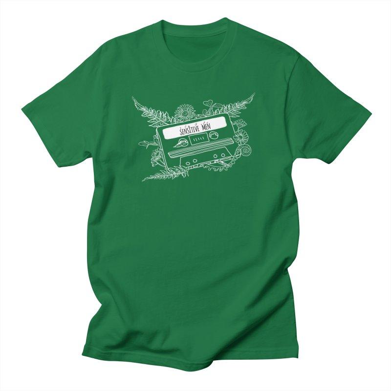 Casette Tape (White) Men's T-Shirt by sensitivemen's Artist Shop