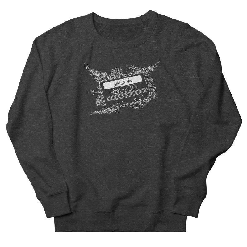 Casette Tape (White) Men's French Terry Sweatshirt by sensitivemen's Artist Shop