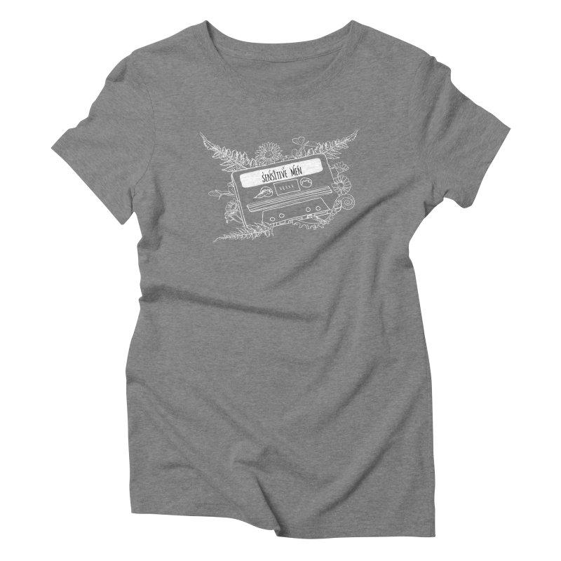 Casette Tape (White) Women's Triblend T-Shirt by sensitivemen's Artist Shop