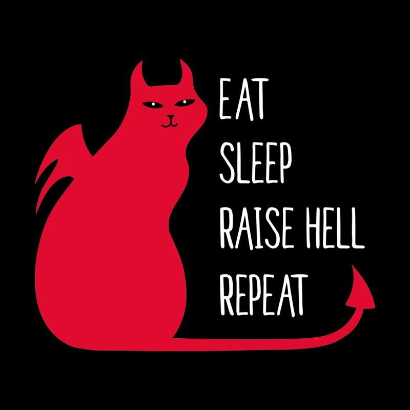 Raise Hell, Repeat Men's T-Shirt by Serenikitty's Artist Shop