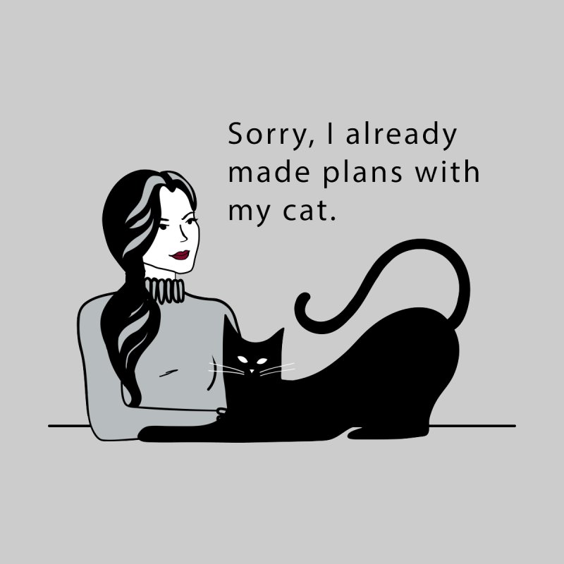Plans with my Cat Home Rug by Serenikitty's Artist Shop