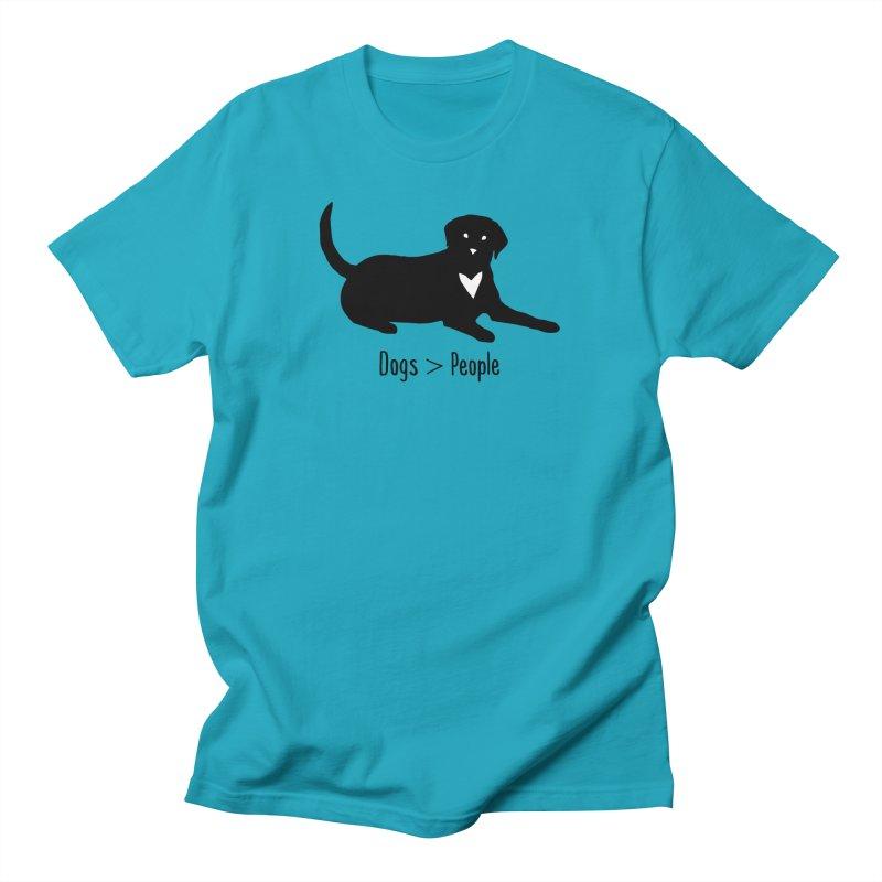 Dogs > People Men's T-Shirt by Serenikitty's Artist Shop