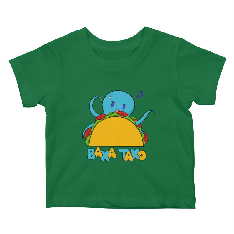 Baka Tako (Silly Octopus) Kids Baby T-Shirt by Serferis's Shop