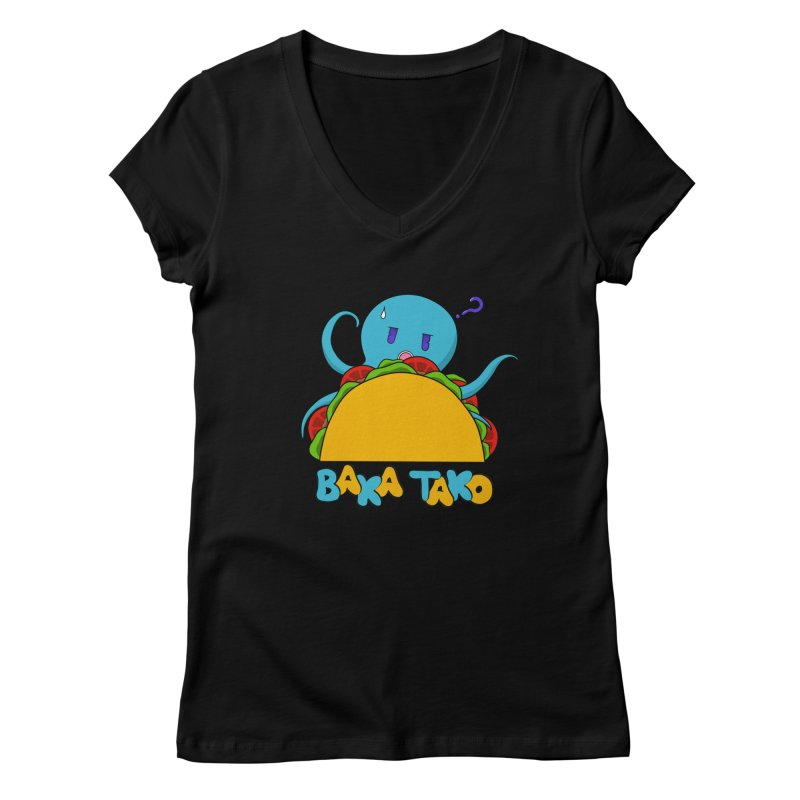 Baka Tako (Silly Octopus) Women's V-Neck by Serferis's Shop