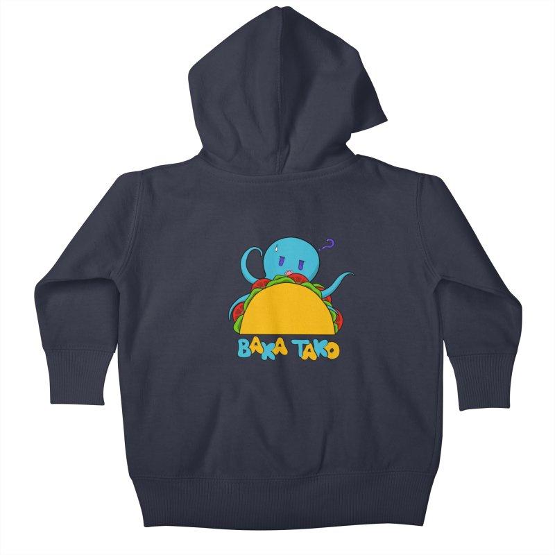 Baka Tako (Silly Octopus) Kids Baby Zip-Up Hoody by Serferis's Shop