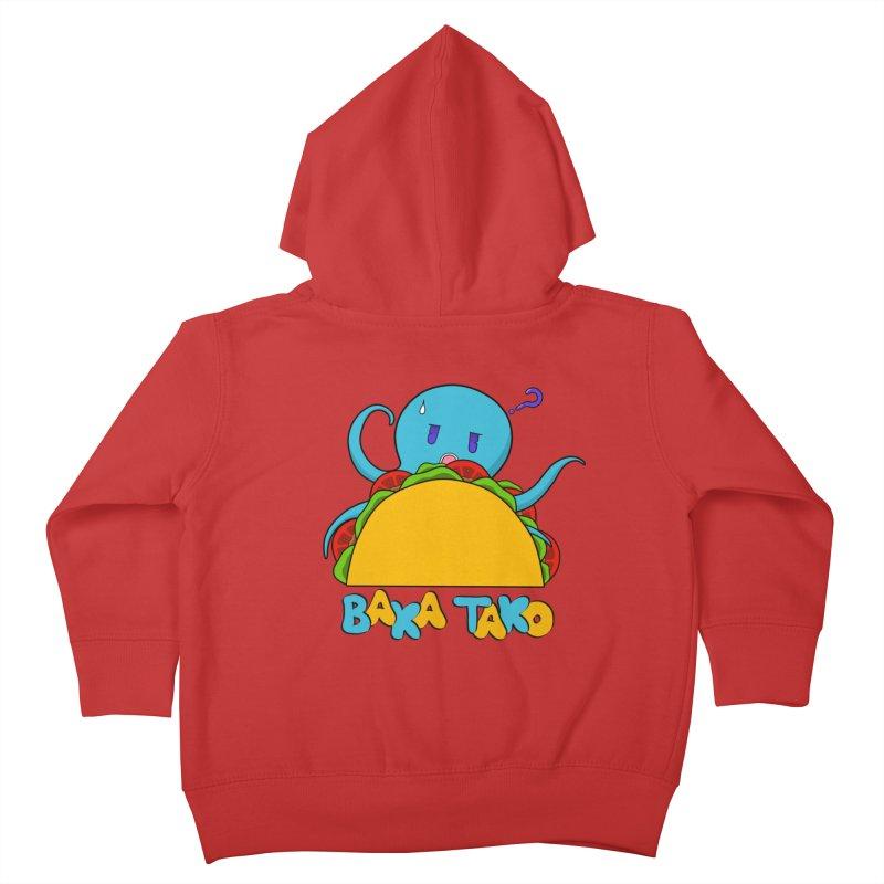 Baka Tako (Silly Octopus) Kids Toddler Zip-Up Hoody by Serferis's Shop