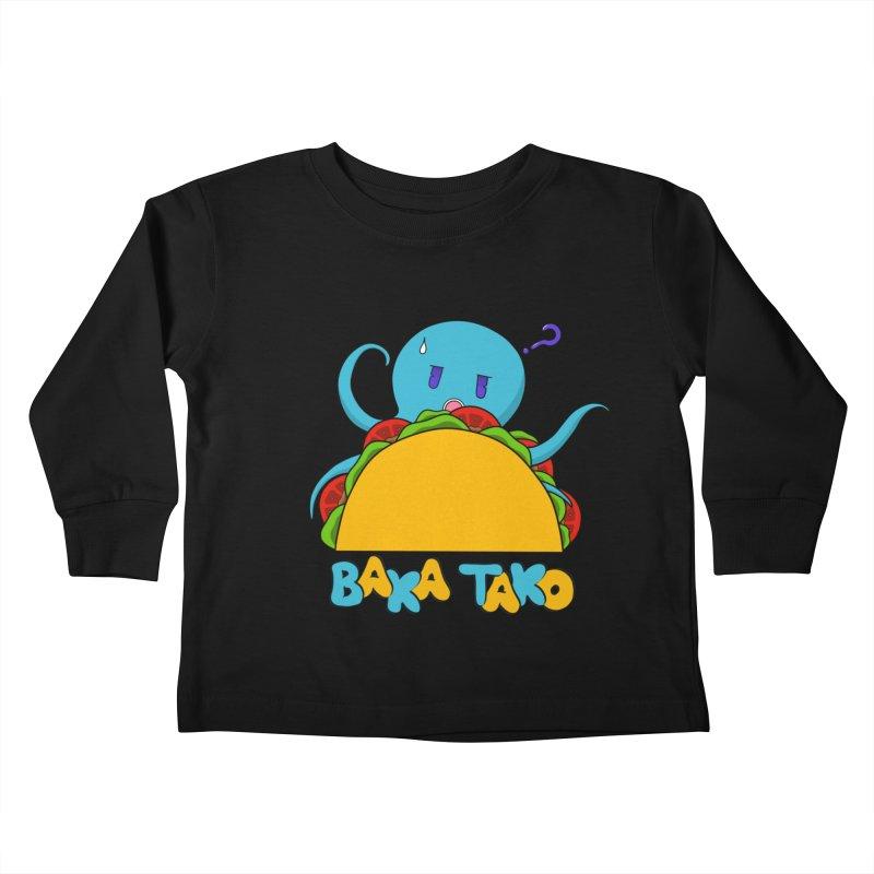 Baka Tako (Silly Octopus) Kids Toddler Longsleeve T-Shirt by Serferis's Shop