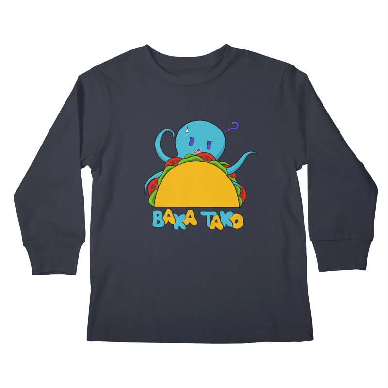 Baka Tako (Silly Octopus) Kids Longsleeve T-Shirt by Serferis's Shop